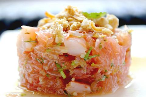 Salade Thaïe Pamplemousse & Crevettes